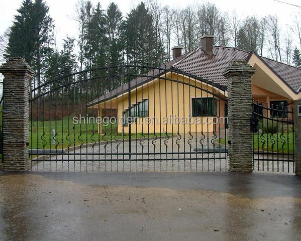 D corative maison pas cher en fer forg moderne portail coulissant prix porta - Faire son portail en fer ...