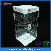China supplier e cigarette counter top acrylic display case