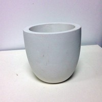 outdoor and indoor pots cement or concrete white plant pots