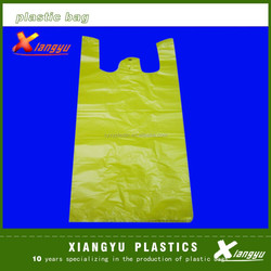 Yellow t-shirt plastic bag made in China