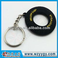 buy 2013 promotional cheap soft PVC tyre key chain price