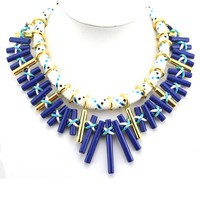 2014 New Fashion Hot Sale Choker Charm Alloy Bar Pendant Statement Necklace for Women