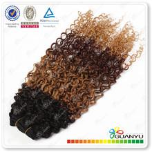 Grade 6A hair products cheap 100% human virgin organic brazilian hair remy loose curl weave