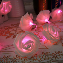 2016 new product custom christmas ornament LED rose light