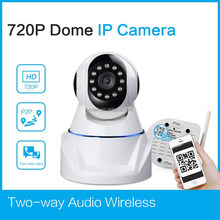 1 Megapixel 720P HD Night Vision Wireless IP Pan/Tilt Network Internet Surveillance Camera with IR-Cut and Built-in Microphone