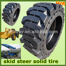top sales with wheel rims bobcat skid steer loader solid tires 10-16.5