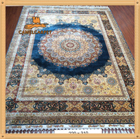 220X310cm royal blue art deco hand knotted traditional carpet