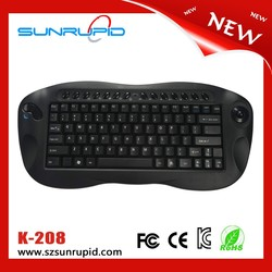 2015 hot selling multimedia type mini wireless keyboard with trackball mouse in stock