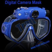 Detachable Underwater Digital Video Camera Mask, 30M diving mask camera