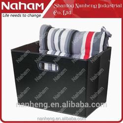 NAHAM PVC Leather Decorative Foldable Storage Tote Basket