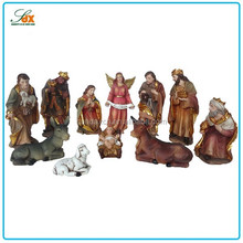Religious manger series resin statues jesus birth resin figurines