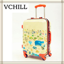 ABS hard shell animal print cheap kids luggage