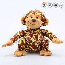 knitted monkey with custom logo,stuffed knitted momkey toys