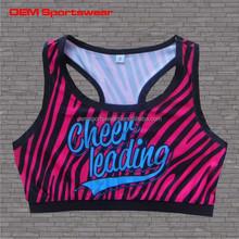 Cheer wear custom sublimated kids training sports bra