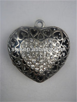 Heart jewelry scarf factory direct sale alloy charm pendant