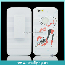 Alibaba belt clip Chrismas moible case for iphone 6