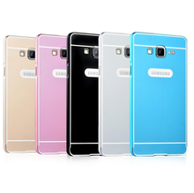 Top hot 2015 luxury aluminum metal bumper + PC cover case for Samsung galaxy On7