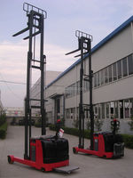 Max lifting height 7.5m loading 1 ton Battery Powered(DC/AC) three way electric stacker
