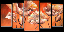 Bedroom decoration canvas bright flower oil painting wall picture 41407