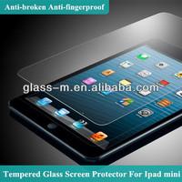 9H Japan Material Factory Wholesale Anti-broken Tempered Glass Screen Protector Film For Ipad Mini