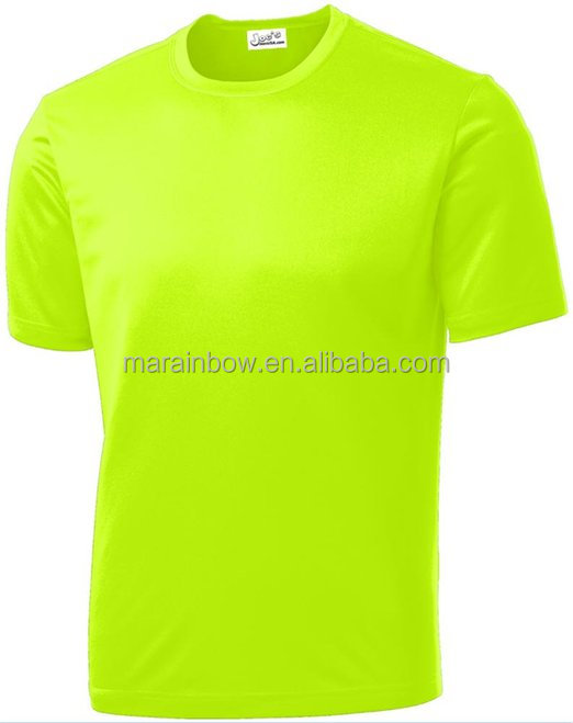 2014 new popular usa sport neon color high visibility for Neon coloured t shirts