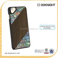 Wholesale Unique Seashell Wood Mobile Phone Case For iPhone 6, For iPhone 6s Cell Phone Case