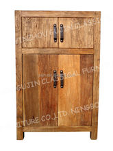 industrial loft metal and reclaimed wood storage cabinet