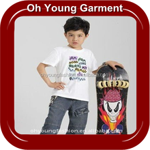 New design custom fabric tshirt for boys wholesale cheap /wholesale cotton kids t shirt/ popular custom kids t shirt