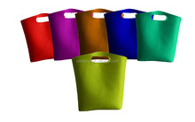 3mm thick felt tote bag for shopping centres and hotels