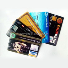 NEW 2GB USB Flash Drive Card Colored Design printing Credit Card Size Wallet