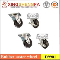 """New Swivel Plate Casters with 2"""" Hard Rubber Wheels"""