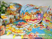 Disposable Table Setting Colorful party tableware