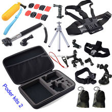 Cheap xiaomi Yi action camera accessories set for Yi sports camera , SJ4000 accessories kits 2