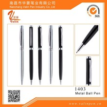 2015 Classic Black/silver ballpens with eco-friendly materials customized logo for business gift with gift box