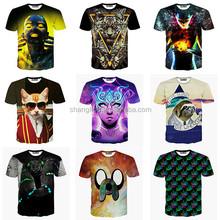 2015 High Quality Fashion Summer Short Sleeves O Neck Women&Men Unisex 3D T Shirt Wholesale 3D T Shirt