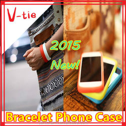 Reasonable price innovative silicone bracelet phone case cover for lumia 535