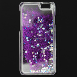 Fashion Mobile Phone Cases Colourful Glitter Bling Stars Liquid Novelty Case Cover Protector for iPhone 6 New Design
