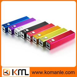 factory wholesale portable mobile power bank 2600 mah usb power bank charger