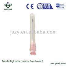 Disposable sterile syringe needle 18G
