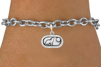 Simple Design Zinc Alloy Wolf Bark At The Moon Animal Charms Linked Bracelet Jewelry