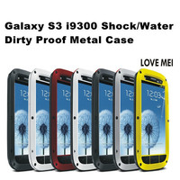 Waterproof Original Love Mei Powerful Case Metal Aluminum Cover Slim Small Waist Case For Samsung Galaxy S3 I9300