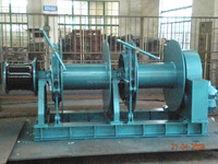 Two Drums Double Warping Heads Marine Hydraulic Anchor Winch
