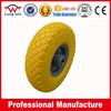 PU foam wheel with strong wear resistance flat free wheel