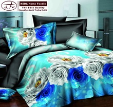 Home textile design edding linens 4 pcs pillow cases bedspread quilt cover 3d bedding fitted bed sheets