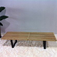outdoor garden patio platform bench with metal legs