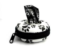 Round shape heart printed waster bag dispenser innovation new style dog waste case