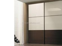 lacquer black oak wood bedroom Wardrobe with 2 doors