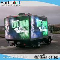 P8 outdoor ultra-slim LED display rental HD mobile truck led display 3 side truck mounted LED displays