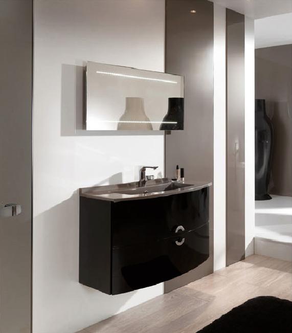 Eco friendly waterproof customized mdf bathroom vanity for Waterproof bathroom cabinets