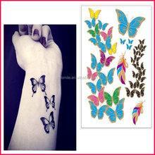 2015 Hot trend factory supply sexy body art sticker temporary henna sticker tattoo stencils for nails